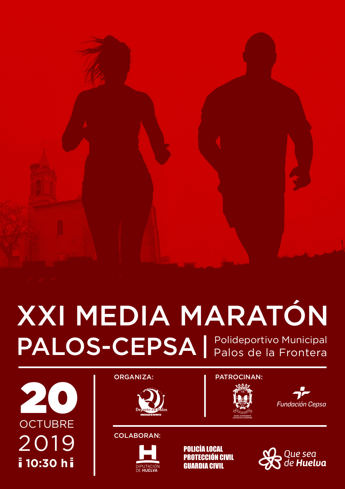 2019 cartel media maratón Palos Cepsa